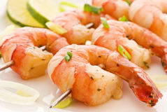 Prawn Skewer Stock Photo