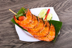 Prawn skewer Royalty Free Stock Photo