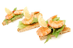 Prawn snack Royalty Free Stock Images