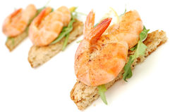 Prawn snack Royalty Free Stock Photos