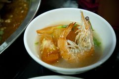 Prawn Soup Stock Photo