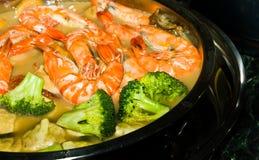 Prawn Soup Stock Photo