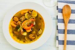 Prawn soup Stock Image