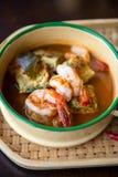 Prawn soup Thai style. Royalty Free Stock Photo
