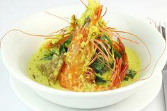 Prawn In Spicy Coconut Gravy Royalty Free Stock Photography