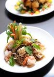 Prawn Spicy Salad Stock Photos