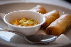 Prawn Spring Roll Stock Images