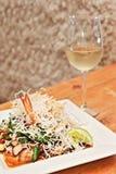 Prawn stir fry with white wine Royalty Free Stock Photo