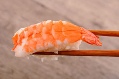 Prawn sushi Stock Images