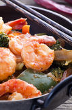 Prawn sweet sour Stock Image