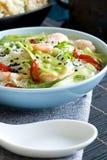Prawn sweet sour soup Stock Image