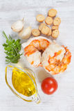 Prawn tails Stock Photography