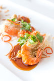 Prawn with tamarind sauce Stock Photos