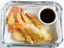 Prawn tempura from above Royalty Free Stock Photo
