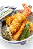 Prawn tempura bowl, japanese food Royalty Free Stock Photo
