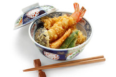 Prawn tempura bowl, japanese food Stock Photography