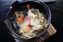 Prawn Tempura Udon Japanese food. In close up stock images