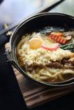 Prawn Tempura Udon Japanese food. In close up royalty free stock image