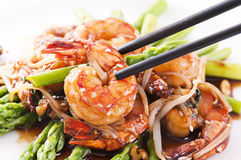 Prawn teriyaki Stock Photos