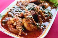 Prawn thai with chili Shrimp Curry Stock Image