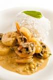 Prawn thai dish Royalty Free Stock Images