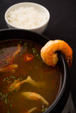 Prawn tomyum soup Stock Image
