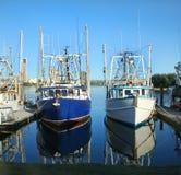 Prawn Trawlers At Dock stock images