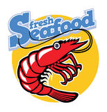 Prawn. Vector of a cartoon prawn, suitable as a mascot Royalty Free Stock Images