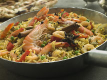 Prawn and Vegetable Biryani Stock Photo