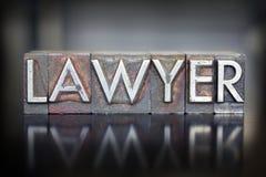 Prawnika Letterpress Obraz Royalty Free