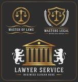 Prawnika loga usługowy biurowy szablon Zdjęcia Royalty Free