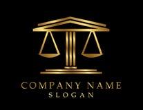 Prawnika logotypu czerni tło Zdjęcie Royalty Free
