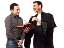 Prawnika mężczyzna i jego klient zdjęcia stock