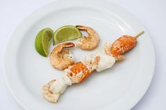 Prawns And Fish Stock Photo