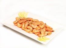 Prawns anyone?. A platter of yummy prawns Stock Images