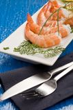 Prawns appetizer Stock Photo