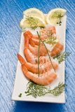 Prawns appetizer Royalty Free Stock Photos