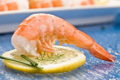 Prawns appetizer Royalty Free Stock Photo