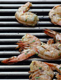 Prawns on barbecue Royalty Free Stock Photos