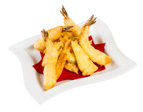 Prawns in batter Royalty Free Stock Photography