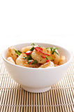 Prawns in a bowl Stock Image