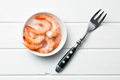Prawns in bowl Royalty Free Stock Images