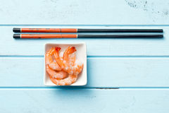 Prawns in bowl Royalty Free Stock Photos