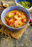 Prawns and cashew curry Royalty Free Stock Photo