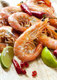 Prawns with Chili and Lime Stock Photo