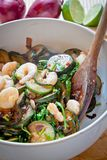 Prawns and courgettes salad Stock Images
