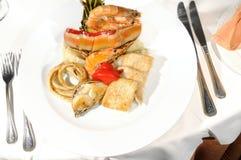 Prawns dish - cuban restaurant royalty free stock images