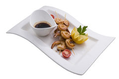 Prawns grilled Stock Images