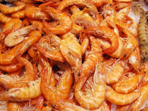 Prawns at the market Stock Photos