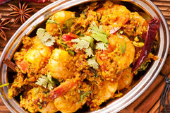 Prawns in masala fry. Indian dish Prawns in masala fry Stock Images